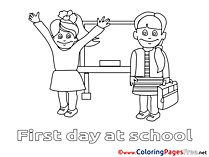 Students School Coloring Pages for free