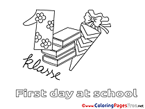 Supplies Children download School Colouring Page