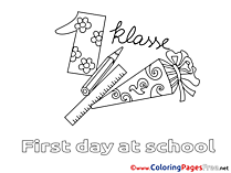 Supplies School download Colouring Sheet free