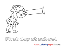 Telescope Children Coloring Pages free