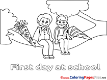 Tree Kids free printable Coloring Sheets