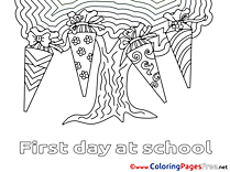 Tree printable Coloring Pages School for free