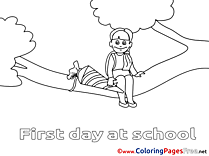 Tree Pupil for Kids printable Colouring Page