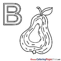 Birne printable Alphabet Coloring Sheets
