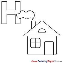 Haus download Alphabet Coloring Pages