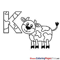 Kuh Alphabet Coloring Pages download