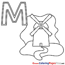 Muehle for Kids Alphabet Colouring Page