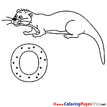 Otter free Alphabet Coloring Sheets