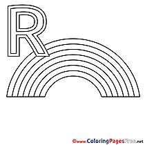 Regenbogen printable Alphabet Coloring Sheets