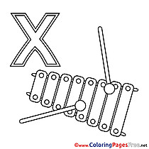 Xylophon download Alphabet Coloring Pages