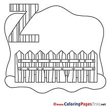 Zaun Kids Alphabet Coloring Page