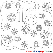 18 Snowflakes Coloring Pages Numbers