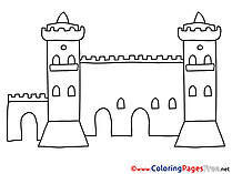 Castle Children download Colouring Page
