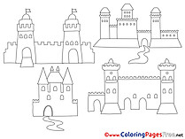 Castles printable Coloring Sheets download