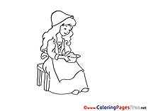 Cinderella free printable Coloring Sheets