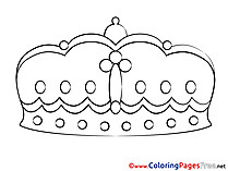 Crown Children Coloring Pages free