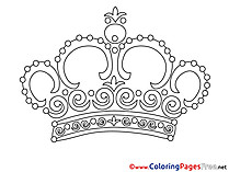 Crown Coloring Sheets download free