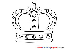 Crown download printable Coloring Pages
