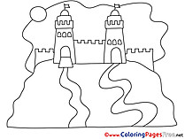 Fort Colouring Page printable free