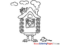 Hut on Chicken Legs download printable Coloring Pages