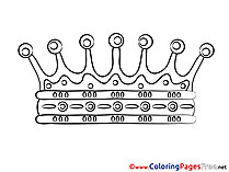 Kids free Crown Coloring Page