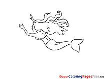 Little Mermaid Coloring Pages for free