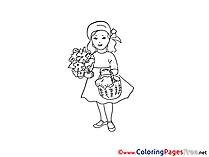 Little Red Riding Hood Colouring Page printable free