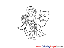 Little Red Riding Hood for free Coloring Pages download