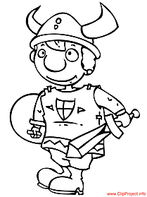 Viking coloring image for free