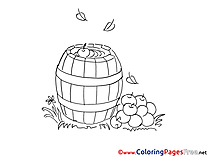 Barrel Coloring Pages for free