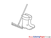 Boots Kids download Coloring Pages
