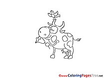 Bull for free Coloring Pages download