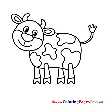 Calf download printable Coloring Pages