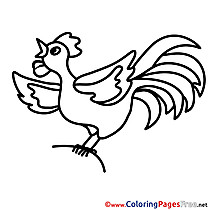 Chicken for free Coloring Pages download