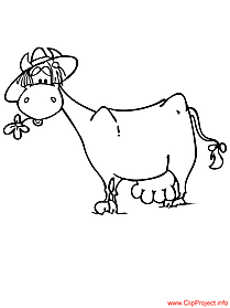 Cow colouring free