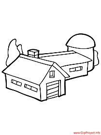 Farm coloring page