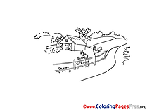Farm Colouring Page printable free
