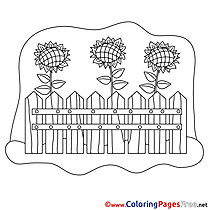 Fence download printable Coloring Pages