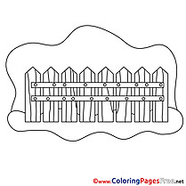 Fence for free Coloring Pages download