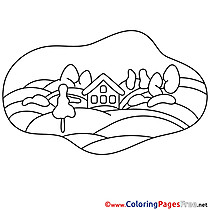 Field for free Coloring Pages download