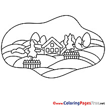 Flield Children Coloring Pages free