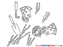 Gloves Coloring Sheets download free