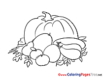 Harvest Colouring Sheet download free
