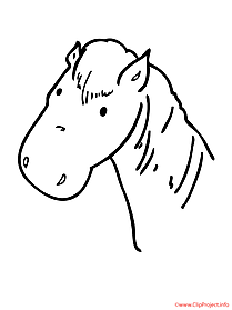 Horse printable coloring page farm