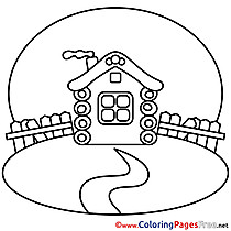 House printable Coloring Sheets download