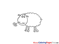 Lamb for Kids printable Colouring Page