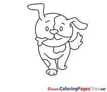 Puppy free Colouring Page download