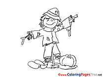 Scarecrow free Colouring Page download