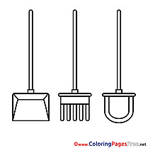 Shovel Colouring Sheet download free