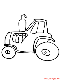 Tractor coloring sheet for free